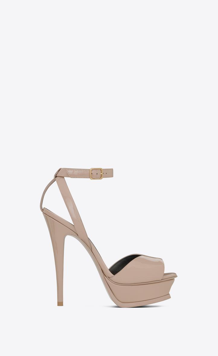 02ddbdd6042a Saint Laurent Tribute Sandal In Patent Leather