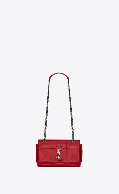SAINT LAURENT Jamie Donna bag jamie small rossa in pelle patchwork a_V4