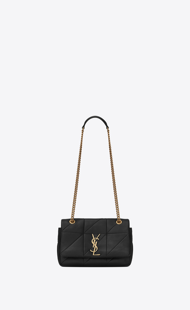 SAINT LAURENT Jamie Woman Small JAMIE bag in black patchwork leather a_V4