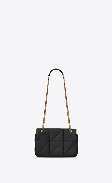 SAINT LAURENT Jamie Woman Small JAMIE bag in black patchwork leather b_V4
