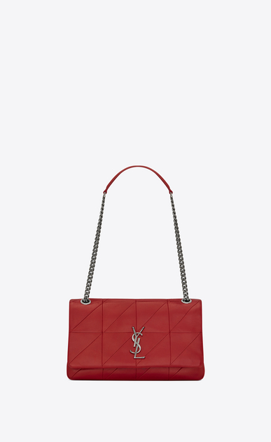 SAINT LAURENT Jamie Woman Medium JAMIE bag in red patchwork leather a_V4