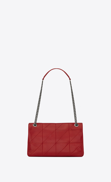 SAINT LAURENT Jamie Woman Medium JAMIE bag in red patchwork leather b_V4