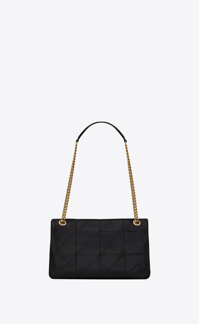 SAINT LAURENT Jamie Woman Medium JAMIE bag in black patchwork leather b_V4