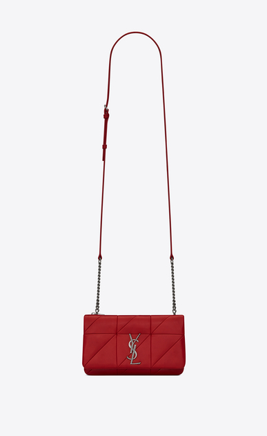 SAINT LAURENT Mini bags Jamie Woman JAMIE chain wallet in red patchwork leather a_V4