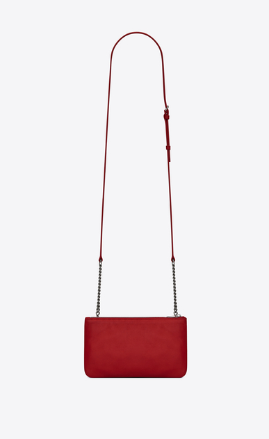 SAINT LAURENT Mini bags Jamie Woman JAMIE chain wallet in red patchwork leather b_V4