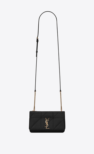 SAINT LAURENT Mini bags Jamie Woman JAMIE chain wallet in black patchwork leather a_V4
