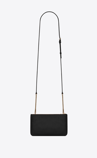 SAINT LAURENT Mini bags Jamie レディース JAMIE chain wallet in black patchwork leather b_V4