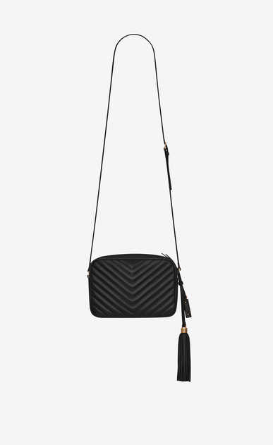 SAINT LAURENT Camera bag Woman lou camera bag in quilted black leather b_V4