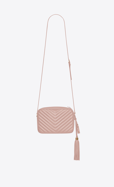 SAINT LAURENT Camera bag Woman lou camera bag in quilted faded pink leather b_V4