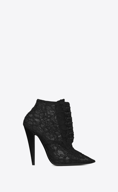 SAINT LAURENT Era Woman ERA 110 ankle boots in black lace a_V4