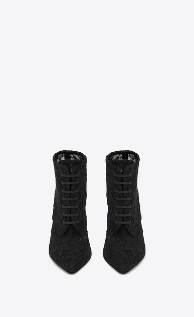 SAINT LAURENT Era Woman ERA 110 ankle boots in black lace b_V4