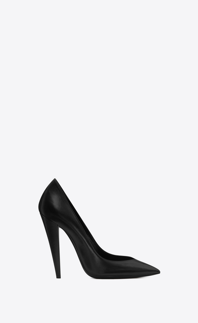 SAINT LAURENT Era Woman ERA 110 pumps in black leather a_V4