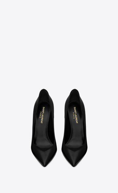 SAINT LAURENT Era Woman ERA 110 pumps in black leather b_V4