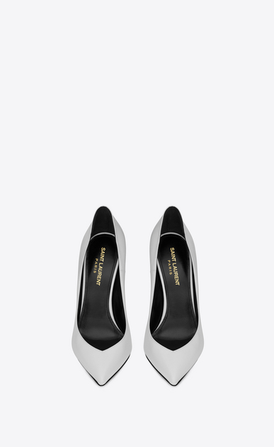 SAINT LAURENT Era Femme Escarpin ERA 110 en cuir blanc b_V4