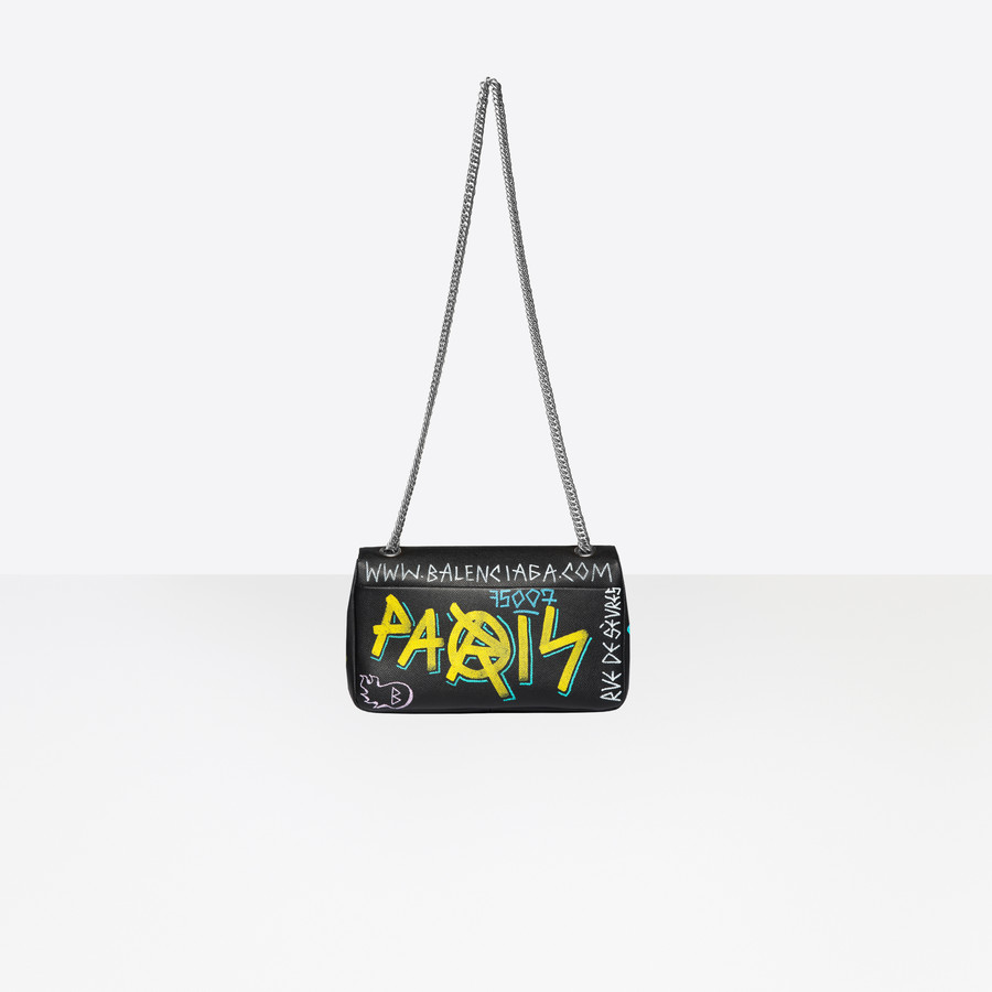 BALENCIAGA BB Round M Graffiti BB Handbags Woman d