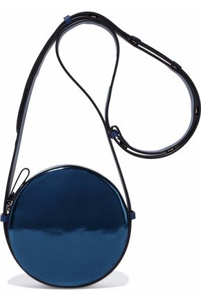 DIANE VON FURSTENBERG Smooth and mirrored-leather shoulder bag
