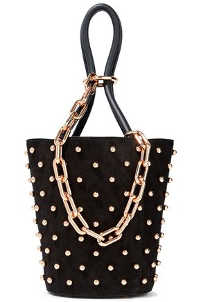 ALEXANDER WANG Roxy chain-embellished studded suede tote