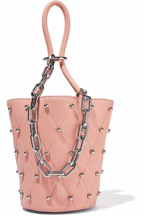 ALEXANDER WANG Roxy chain-embellished studded leather bucket bag