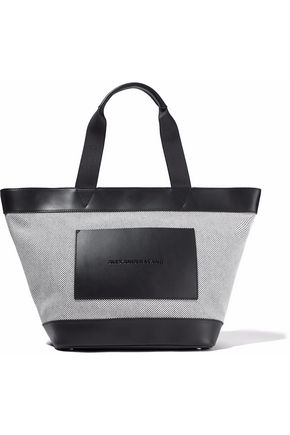 ALEXANDER WANG Leather-paneled woven tote