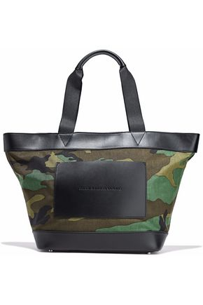 ALEXANDER WANG Leather-paneled printed canvas tote