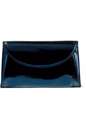 DIANE VON FURSTENBERG Mirrored-leather envelope clutch