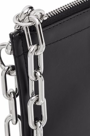 ALEXANDER WANG Chain-trimmed leather pouch