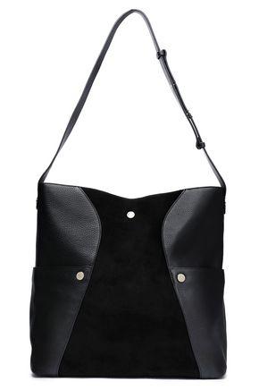 HALSTON HERITAGE Studded leather and suede shoulder bag