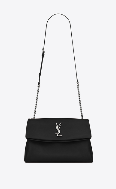 medium west hollywood bag in black textured leather