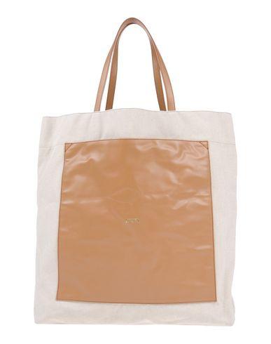 EMPORIO ARMANI レディース ハンドバッグ キャメル コットン 93% / ポリエステル 6% / 指定外繊維 1% / ポリウレタン