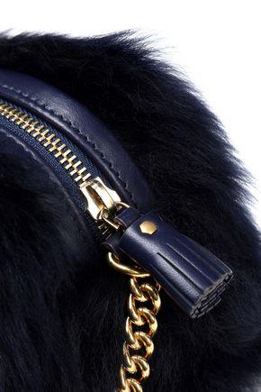 ANYA HINDMARCH Eyes mini shearling shoulder bag