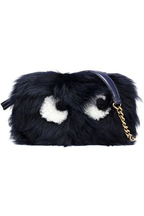 ANYA HINDMARCH Eyes mini shearling shoulder bag