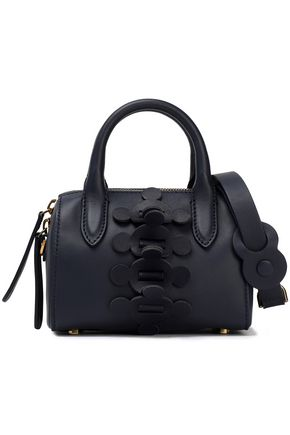 ANYA HINDMARCH Vere Barrel mini appliquéd leather tote