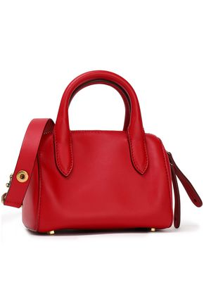 ANYA HINDMARCH Vere Barrel mini appliquéd leather shoulder bag