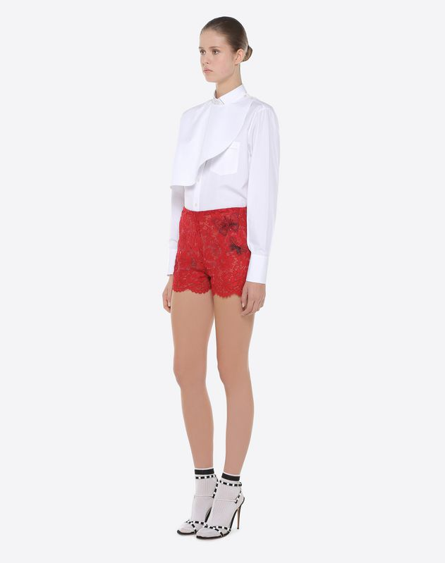 Shorts with embroidered butterflies