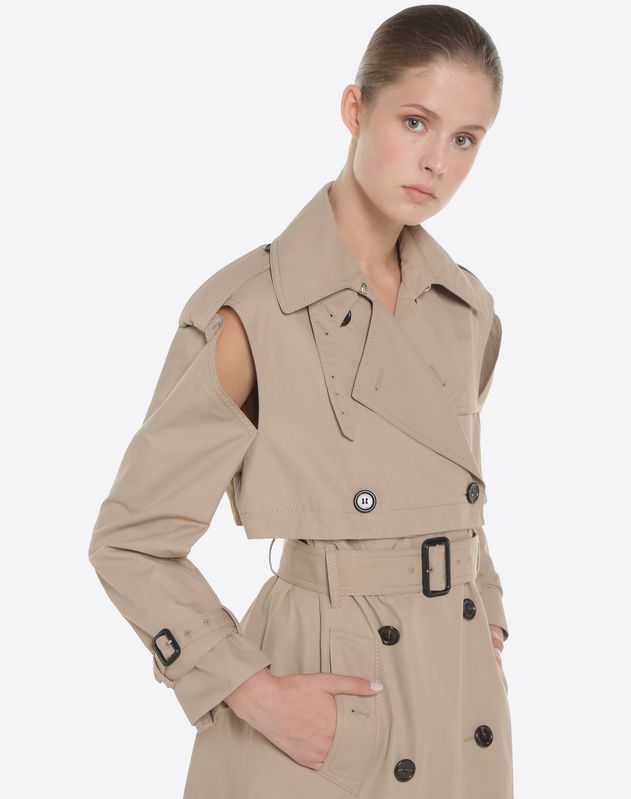 micro gabardine trench for woman valentino online boutique