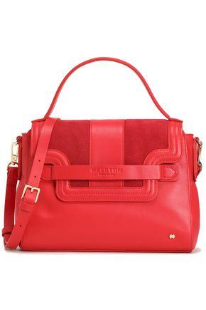 HALSTON HERITAGE Suede-paneled leather shoulder bag