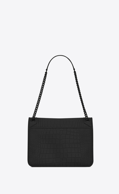 SAINT LAURENT Niki bags Woman Medium NIKI chain bag in black alligator b_V4