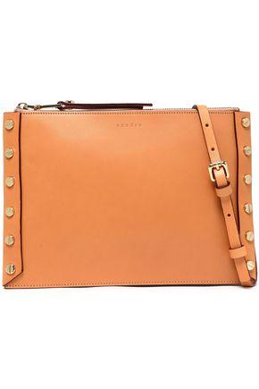 SANDRO Paris Studded leather pouch