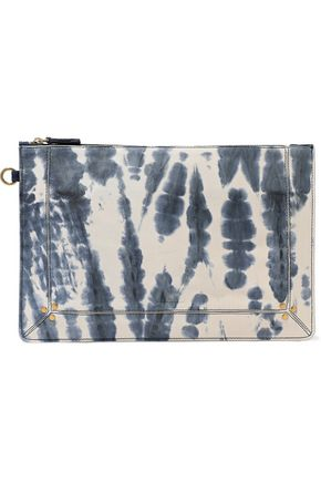 JÉRÔME DREYFUSS Tie-dye leather pouch