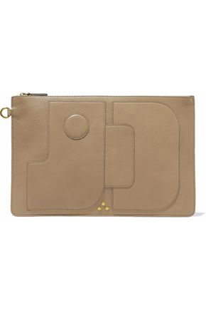 JÉRÔME DREYFUSS Paneled leather clutch