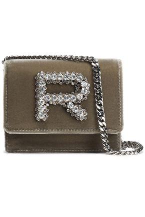 ROCHAS Crystal-embellished velvet shoulder bag