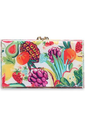 CHARLOTTE OLYMPIA Embellished perspex box clutch