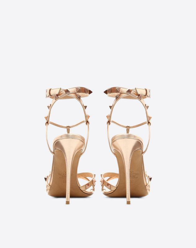Metallic Free Rockstud Sandal 105mm
