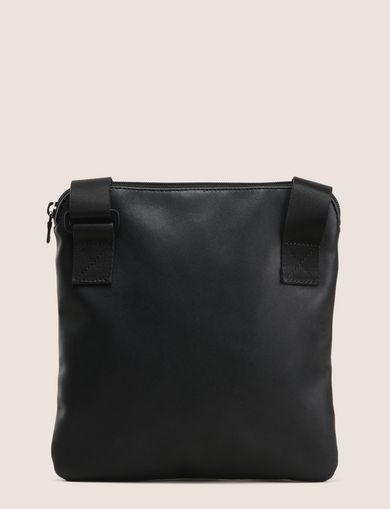 EMBOSSED FAUX-LEATHER CROSSBODY