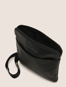 ARMANI EXCHANGE EMBOSSED FAUX-LEATHER CROSSBODY Crossbody bag [*** pickupInStoreShippingNotGuaranteed_info ***] d