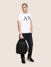 ARMANI EXCHANGE EMBOSSED FAUX-LEATHER BACKPACK Backpack Man e