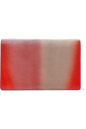 RICK OWENS Appliquéd dégradé lizard-effect leather shoulder bag