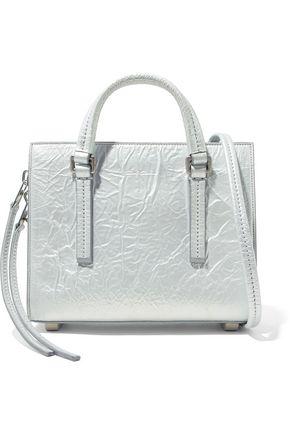 RICK OWENS Metallic crinkled faux-leather shoulder bag