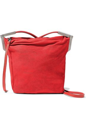 RICK OWENS Washed-leather shoulder bag