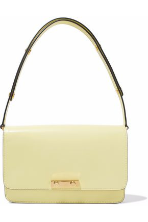 MARNI Glossed-leather shoulder bag
